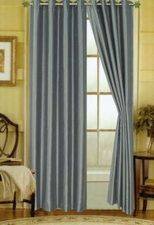 Elaine Faux Silk Grommet Window Panels 21 Colors 84 & 95   2 PACK