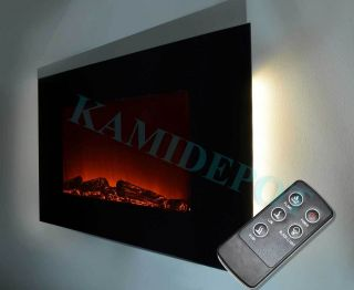 36 inch Wall Mounted Modern Electric Fireplace Heater LED Color Remote