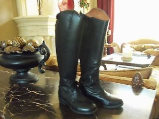 EXCELLENT~DUBLIN~BLACK~SZ 6.5 ~NICE RIDING BOOTS~NARROW CALF~HORSE