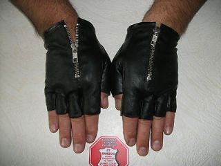 fingerless leather gloves in Womens Accessories