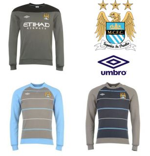 CITY UMBRO TRAINING SWEAT TRACKSUIT FOOTBALL SOCCER TOP CASUAL JUMPER