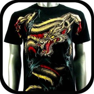Artful Couture T Shirt Tattoo Rock AB60 Sz XXL 2XL Indie Rider Dragon