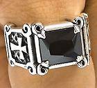 Estate Mint Handsome Sterling Silver 925 Mens Cross Smooth Ring 13 2g