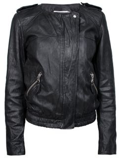 NWT ETOILE ISABEL MARANT Kalibo Black Leather Motorcycle Jacket