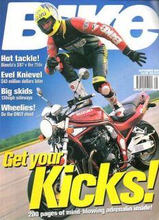 BIKE Magazine SEpt 1997 Bimota SB7 v 750s,Evel Knievel