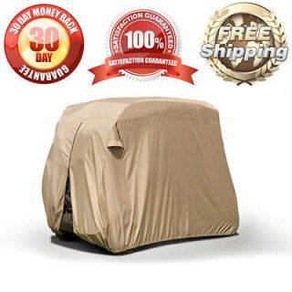 BEIGE STORAGE COVER FITS MOST 2 SEATER EZ GO CLUB CART YAMAHA CART