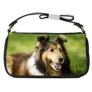 Shetland Sheepdog Sheltie Dog Puppy Puppies #4 Shoulder Clutch Bag