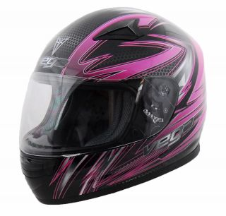 Vega Razor Pink Graphic Mach 2.0 Jr Youth Full Face Helmet