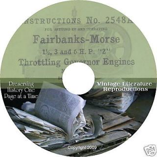 1919 Fairbanks Morse Z Engine Manual on CD