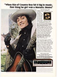 Original Print Ad 1975 Country Boy Farley J. Dollar Owns a MARANTZ