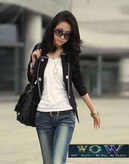 Korean Fashion 2012 NEW One Button Frills OL Blazer Suit Blazer Slim