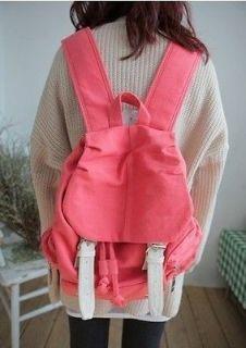 2012 New Fashion Cute Canvas Satchel Girls Backpack Shoulder Bag 4