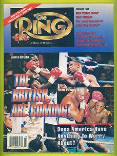 Boxing RING Magazine 1994 LENNOX LEWIS FELIX TRINIDAD Hearns vs Toney