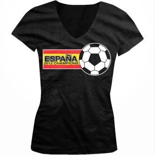 Flag 2012 Junior Girls V neck T shirt Xavi Football World Cup FIFA Tee