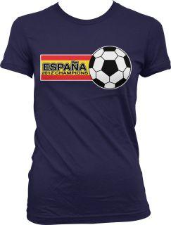Flag 2012 Juniors Girls T Shirt Espana Football World Cup FIFA Torres