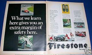 1968 Firestone Tire Ad 67 Parnelli Jones Indy Race Car
