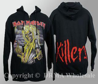 Authentic IRON MAIDEN Killers Eddie Zipup HOODIE Sweatshirt S M L XL
