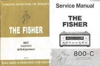 FISHER 800C STEREO OWNER & SERVICE MANUAL ALL ON CD IN A HARD CASE