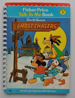 WALT DISNEY GHOST CHASERS Fisher Price Talk To Me BOOK for player 1978