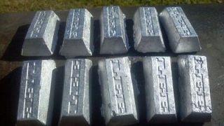 50 pounds of Hard lead ingot bars fishing sinkers bullets do it mold