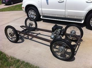 Cyclekart ROLLING Chassis / Frame w/ Front Drop Axle & Suspension Go