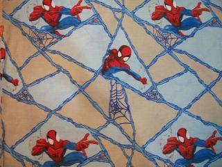 911 Marvel Comics Spiderman Cotton Flat Sheet   Twin