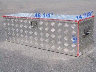48L ALUMINUM TRUCK PICKUP ATV CAMPER TOOL BOX TRAILER FLATBED RV