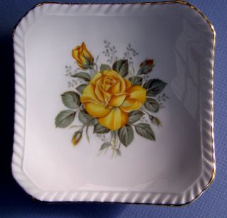 Floral Pattern Bone China Pin Dish by Royal Adderley of England