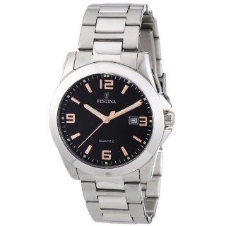 Festina Mens F16376/6 Traditional Dress Stainless Steel Watch