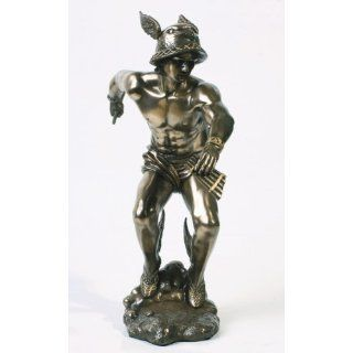 Bronze Greek Olympian God Hermes Statue: Home & Kitchen