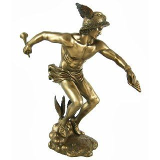 Greek God Hermes Bronzed Finish Statue Mercury Luck: Home