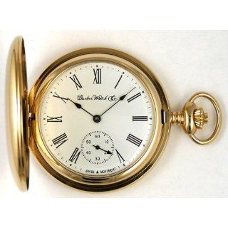 Pocket Watch with High Polish Gold Hunting Case Watches