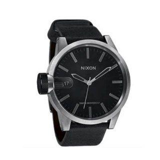 NIXON Mens NXA127000 Black Leather Strap Watch Watches