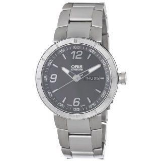 Oris Mens 73576514163MB TT1 Grey Day Date Dial Watch Watches