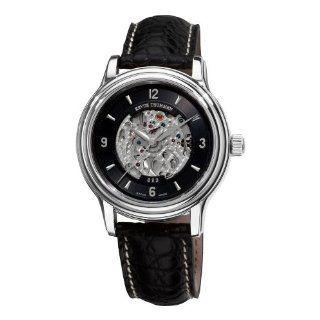 Revue Thommen Mens 12200.2537 Open Heart Automatic Black Dial Watch