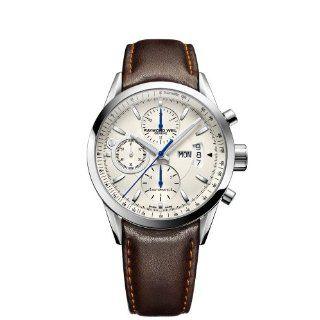 Raymond Weil Mens 7730 STC 65021 Freelancer Brown Leather Strap Watch