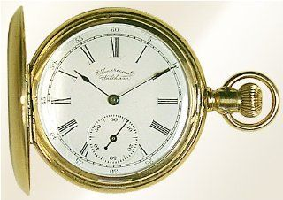 American Waltham 14K Solid Gold Sidewinder Pocket Watch Watches