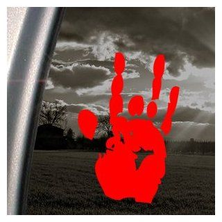 Jerry Garcia Handprint Grateful Dead Red Decal Red Sticker