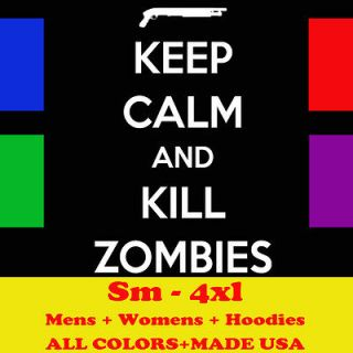 H919 KEEP CALM AND KILL ZOMBIE zombieland the walking dead T shirt
