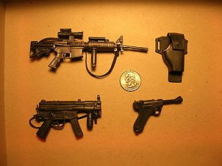 MP5, M4 Carbine and Luger Pistol plus Holster by 21st Century or
