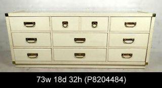 Vintage Modern White Dresser By Drexel w/ Brass Hardware (P8204484)n
