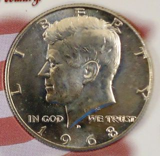 1968D John F. Kennedy Silver Half Dollar in Gift Case