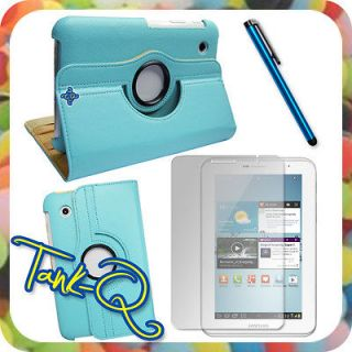 Cover Case + Protector + Pen For Samsung Galaxy Tab 2 7 P3100 P3110