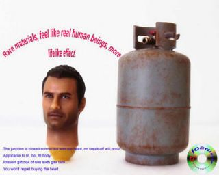 Toys Andrew 1/6 Scale Head for 12 Male Figure in a Propane Gas Tank