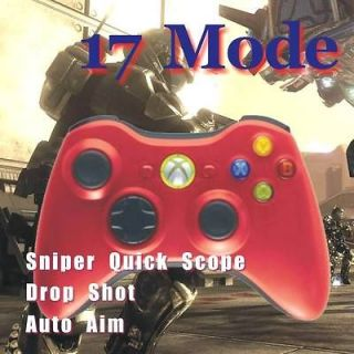 360 Rapid Fire 17 mode Modded Wireless Controller Red for ops2 MW3