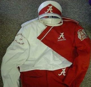 of Alabama Million Dollar Marching Band Game Worn Uniform with Hat