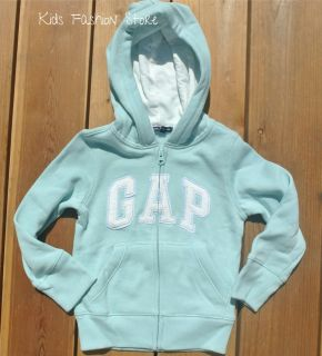 NEW GAP KIDS GIRL BABY GREEN  BLUE ARCH LOGO HOODIE
