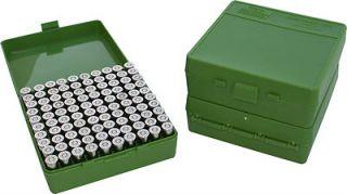 MTM Case Gard™ 100 Round Ammo Box Pistol Hand Gun 9mm 30 Luger 38