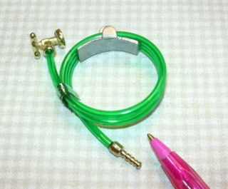 Miniature Green Garden Hose w/Faucet Mount DOLLHOUSE Miniatures 1/12