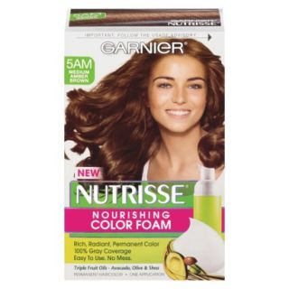 Garnier Nutrisse Foam   Medium Amber Brown product details page